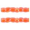3 Cut Beads 10/0 Transparent Luster Orange Strung